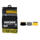 set of 3 boxer shorts man, plain yellow / gray
