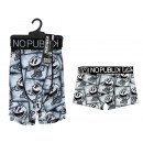 boxer shorts man, black & white