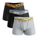 set of 3 boxer shorts man, color belt
