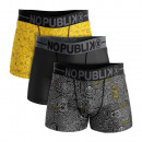 set van 3 boxershorts man, abstract