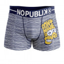 boxer shorts man, bart stripes