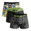 set of 3 boxer shorts man, funky family