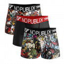 set of 3 boxer shorts man, colors