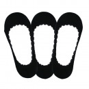 set of 3 women's foot protector, uni black