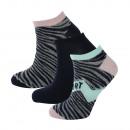 set van 3 korte sokken vrouw, sport pow