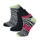 set of 3 short socks woman, sport pow