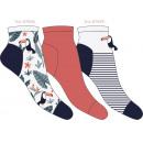 juego de 3 calcetines cortos de mujer, tucán ma
