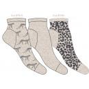 juego de 3 calcetines cortos de mujer, leopardo b