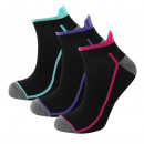 set of 3 short socks woman, run, go &