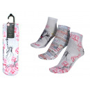 set of 3 short socks woman, sweet cat