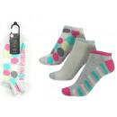 Set mit 3 kurzen Socken Frau, Streifen /