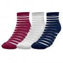 juego de 3 calcetines de mujer, transp. rayas co