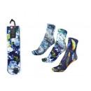 Conjunto de 3 calcetines mujer, naturaleza azul.