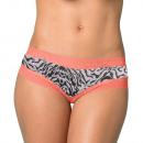 shorty woman, zebra coral lace