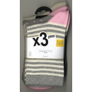 set of 3 socks woman, stripes and polka dots