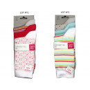 set of 3 socks woman, peas stripes acid