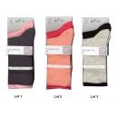 Conjunto de 2 calcetines mujer, bordes caravanas b