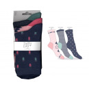 set of 3 socks woman, ikat pink / blue