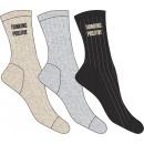 juego de 3 calcetines de mujer, costillas positiva