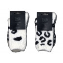 women's socks, panda and leopard