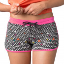 shorts woman, pingpong graphik pink