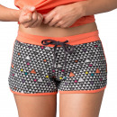 shorts woman, pingpong graphik coral