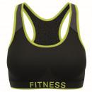Damen BH, Fitness schwarz / grün