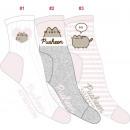 nagyker Ruha és kiegészítők: 3 női zokni készlet, klasszikus pusheen ...
