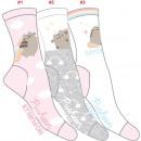 nagyker Ruha és kiegészítők: 3 női zokni készlet, pusheenicorn