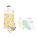 set of 3 kids short socks, lemon ju