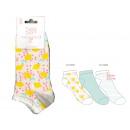 3 kurze Socken für Kinder, Zitrone Ju