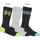 3er-Set Kindersocken, 94er-Set grau