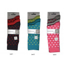 Set von 3 Socken Kind Mädchen Erbsen a