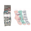 Großhandel Strümpfe & Socken: Set mit 3 Kindersocken, Einhorn-Regenbogen