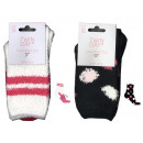 child socks, rabbit or polka dot blanket