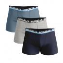 ensemble de 3 boxer short enfant, marine / bleu /