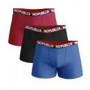 Set mit 3 Boxershorts für Kinder, rot / schwarz /