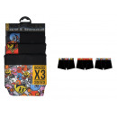 set of 3 boxer shorts child, united nioir
