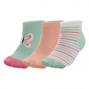 3er-Set kurze Babysocken, Schmetterling