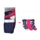Set mit 3 Babysocken, Butterfly Navy /