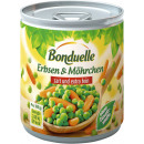 Bonduelle peas with möhr.z + ef 212ml tin