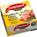 Saupiquet tuna fillet in sun. Oil 185g can