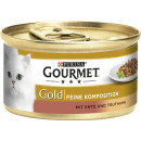 gourmet gold duo duck + trut.85g can