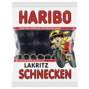 Haribo licorice snails 200g bag