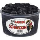 Haribo liquorice snails 150 pieces tin