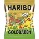 Haribo gold bears sour 200g bag