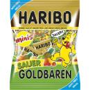Złota torba Haribo z kwaśną minis50g