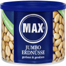 max jumbo peanuts ger. + salted 300g can