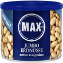 max jumbo peanuts ger.o.salt 300g can