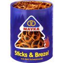 grossiste Aliments et boissons: bâtonnets de mayka + mélange de bretzels 250g